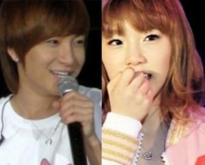 Leeteuk (Super Junior) and Taeyeon (SNSD)